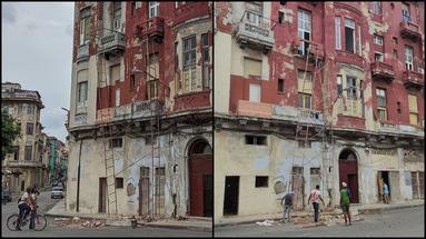 El derrumbe ocurrió en un edificio de la calle San Nicolás y San Lázaro. (14ymedio)