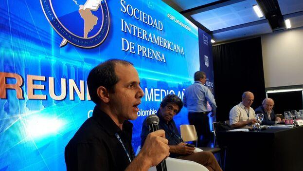 """El director de la revista """"La Hora de Cuba"""", Henry Constantín. (14ymedio)"""