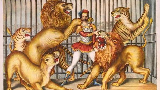 Un domador de leones.