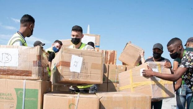 El donativo de Argentina a Cuba llegó este domingo. (Prensa Latina)