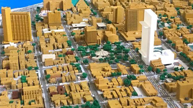 El edificio de 42 plantas proyectado en el Vedado habanero, ya se encuentra en la maqueta. (14ymedio)