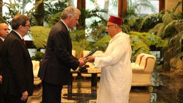 El embajador de Marruecos presenta sus cartas credenciales en La Habana. (Minrex)