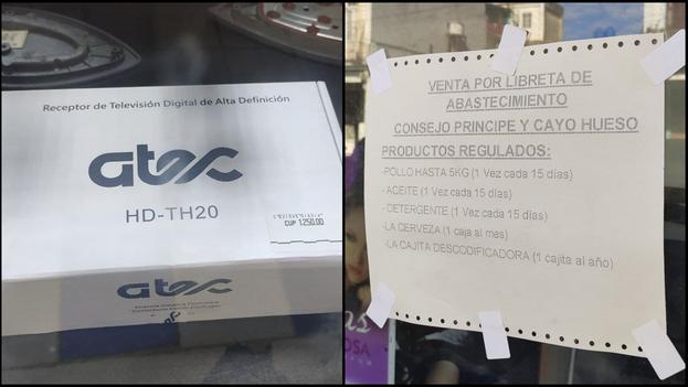 Los equipos tienen un precio de 1.250 pesos en las tiendas estatales y en el mercado informal pueden costar 5.000. (Collage)