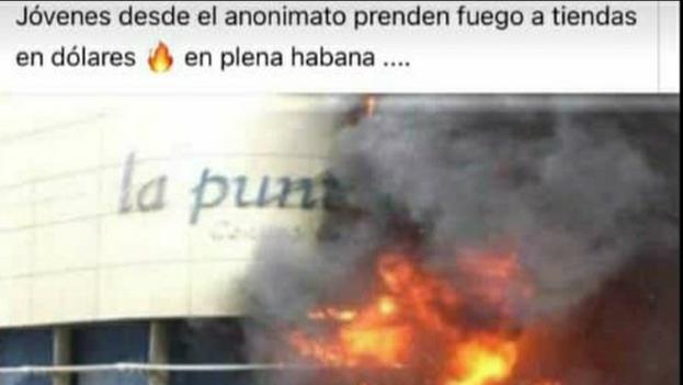 Las fotografías muestran incendios que ocurrieron en La Habana hace un tiempo atrás. (Twitter)