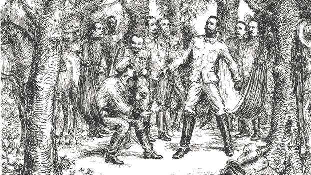 El general Antonio Maceo en la protesta de Baraguá. (HISTORIA GRÁFICA DE CUBA)