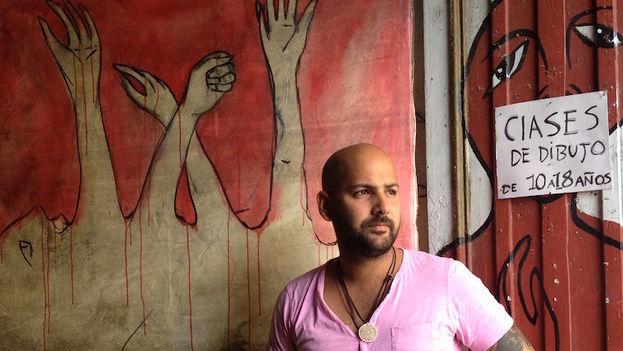 El grafitero Yulier Rodríguez fue detenido por la policía el pasado jueves y liberado después de 36 horas. (14ymedio)