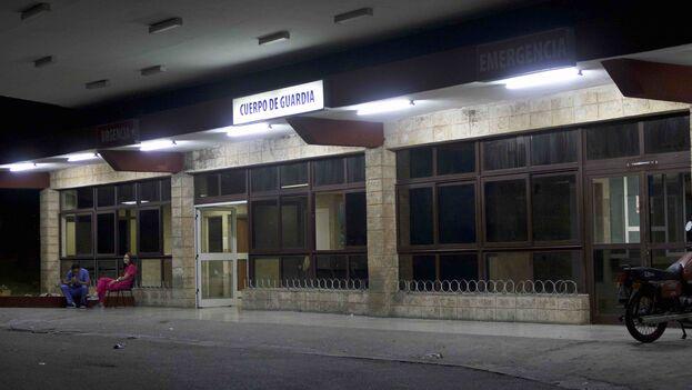 El cuerpo de guardia del Hospital Manuel Fajardo en La Habana. (14ymedio)