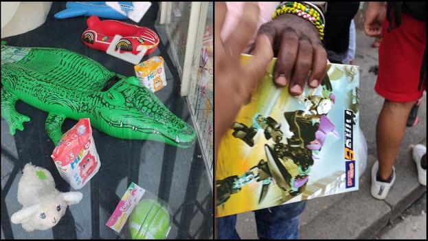 En la imagen algunos de los juguetes que se comercializaban este 6 de septiembre en La Habana.(14ymedio)