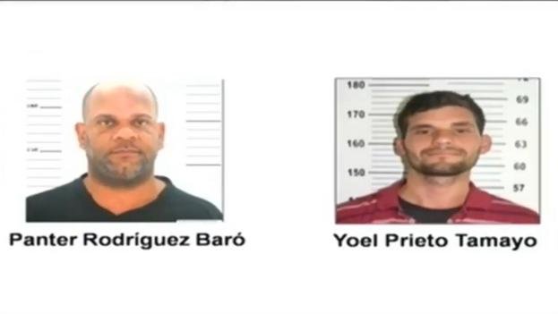 Los presuntos integrantes del grupo Clandestino, en imágenes difundidas por la televisión oficial después de su detención. (Captura)