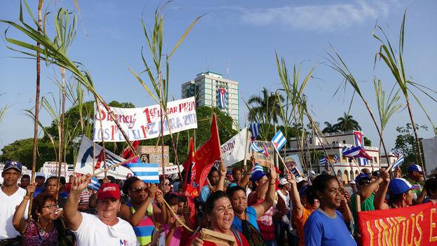 La manifestación del primero de mayo en Camagüey. (Flickr/CC)