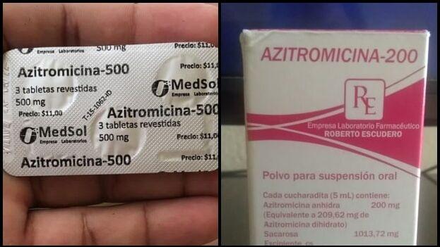 El mercado negro, que muchas veces se nutre de la azitromicina robada en almacenes oficiales, impone sus precios. (Collage)