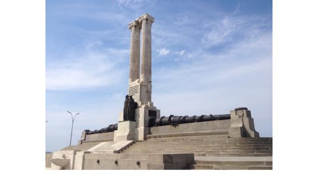 El monumento al Maine en La Habana. (14ymedio)