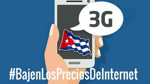 Uno de los múltiples llamados que circularon en redes pidiendo rebajas al monopolio estatal de telecomunicaciones. (Twitter)