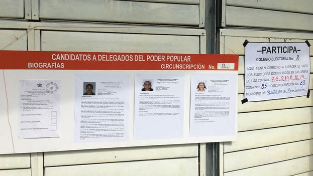 Este domingo los cubanos eligieron a 12.515 delegados a las asambleas municipales del Poder Popular en unos comicios a los que no logró presentarse ningún candidato independiente. (14ymedio)