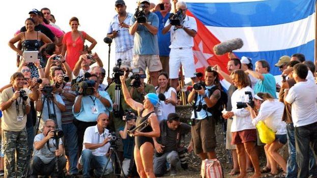 La nadadora Diana Nyad. (Foto de su página Facebook)