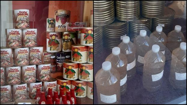 Un antes y un después de la presentación de los productos en la tienda ubicada en el municipio de Cerro (Collage)