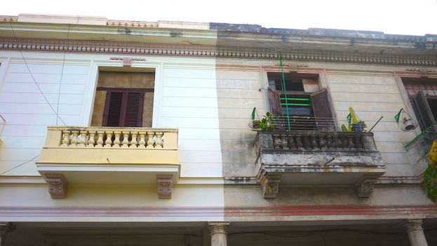 Entre los productos más deficitarios se encuentra la pintura para fachadas. (Reinaldo Escobar)