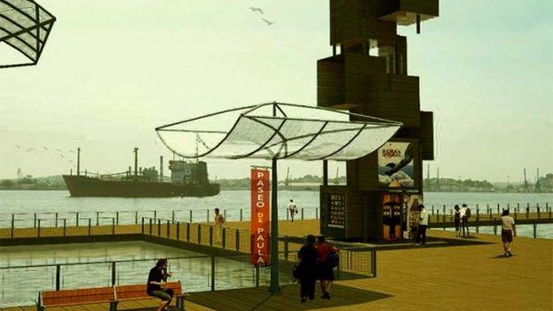 El proyecto del paseo marítimo flotante. (Imagen de archivo)