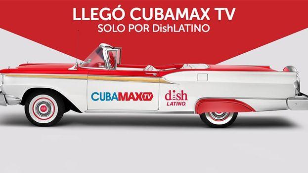 Una publicidad anuncia el nuevo canal CubaMax TV.