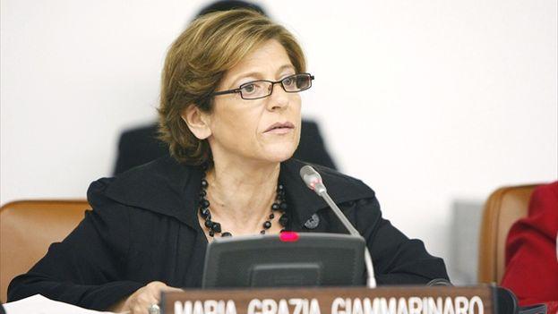 """La Fundación para los Derechos Humanos en Cuba ha asegurado en una misiva que la msión de la relatora de la ONU, María Grazia Giammarinaro, """"no será fácil"""". (unmultimedia.org)"""