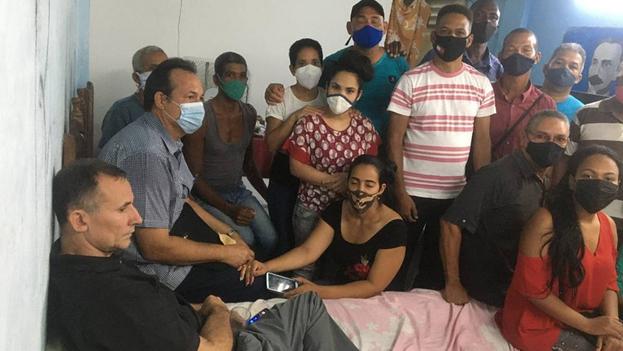 La huelga de hambre, que comenzó hace ya 21 días, exige el fin del cerco represivo contra la sede de la Unpacu en Santiago de Cuba. (Twitter)