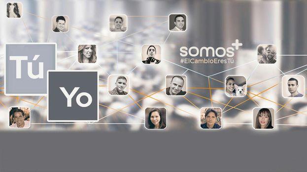 Somos + usa las redes sociales para difundir su mensaje a sus seguidores. (Facebook)