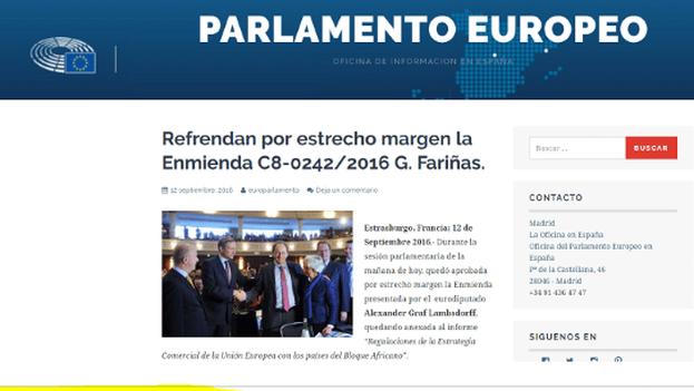 """La página web que dio la supuesta noticia sobre la """"Enmienda Fariñas"""" resultó falsa. (CC)"""