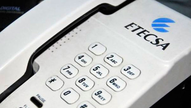 Un teléfono fijo de la Empresa de Telecomunicaciones de Cuba. (Etecsa)