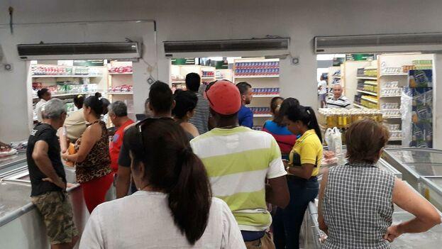 En las últimas semanas las imágenes de grandes filas e incluso peleas para comprar pollo, huevos y aceite. (14ymedio)