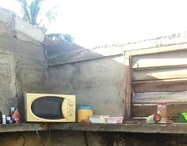 Al menos 13 viviendas quedaron afectadas por el remolino en Sancti Spíritus. (Cortesía)