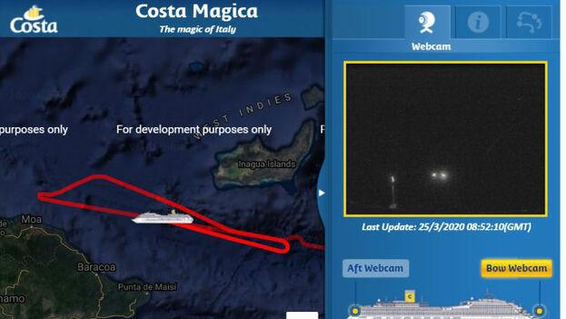 El barco está dando vueltas cerca de la costa cubana a la espera de que se decida su destino.
