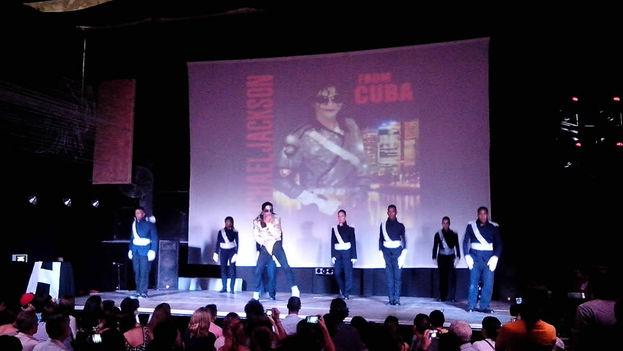 Actuación de Yunier Jackson en La Habana. (14ymedio)