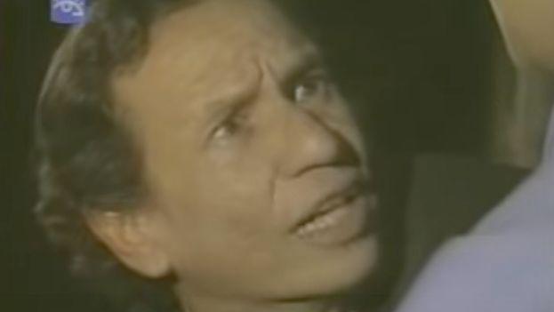 El actor José Antonio Rodríguez durante la interpretación del personaje Rigoletto, en la novela  Las Impuras. (Youtube)