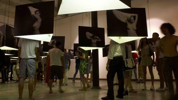En la tarde de este viernes fue la inauguración en la Galería-Taller Gorria del barrio de San Isidro. (14ymedio)