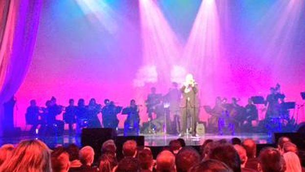 Arturo Sandoval durante su actuación en la gala de entrega de premios Herencia Latina. (@Raphaeleads)