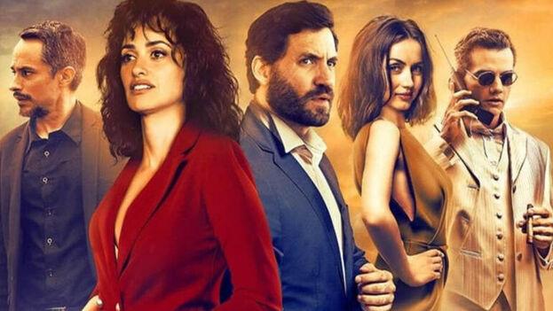 Uno de los carteles promocionales de 'La Red Avispa', protagonizada por Edgar Ramírez y Penélope Cruz. (Netflix)