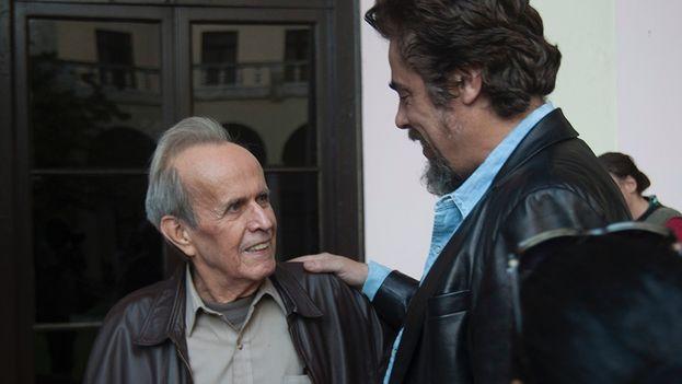 Benicio del Toro y Ricardo Alarcón (Luz Escobar)
