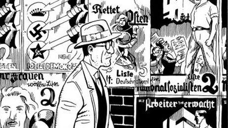 Lutes perfila a Kurt Severing como un personaje que también quiere cambiar el siniestro rumbo de su país, pero sin perder por el camino ni su criterio ni su individualidad. (Drawn and Quarterly)