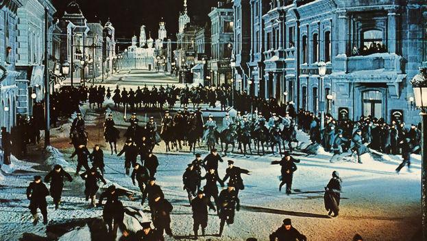 El barrio de Canillas en Madrid se convirtió en una calle de Moscú para la película 'Doctor Zhivago'. (CC)