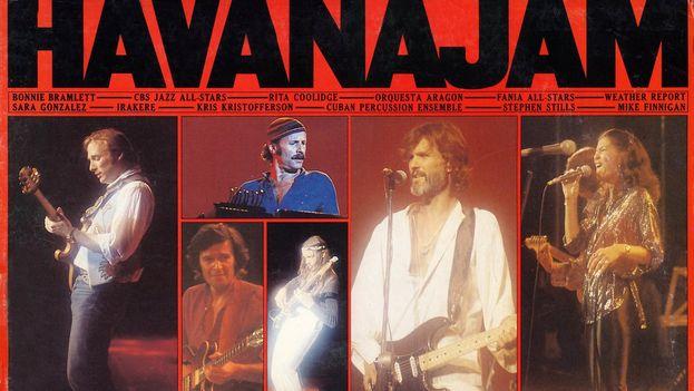 Carátula del disco grabado durante Havana Jam '79