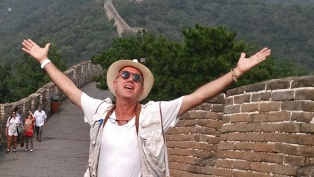 Juan Carlos Cremata en Mu Tian Yu la Gran Muralla China, 2015. (Cortesía del autor)