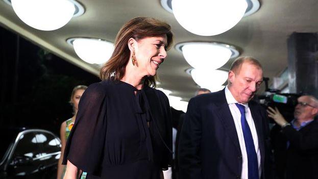 La princesa Carolina de Mónaco a su llegada este viernes al Teatro Nacional de La Habana. (EFE/Alejandro Ernesto)