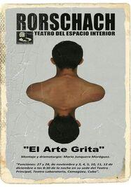 Cartel de la obra El Arte Grita. (Teatro del Espacio Interior)