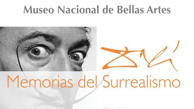 Cartel de la exposición Memorias del Surrealismo de Salvador Dalí. (14ymedio)