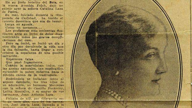 Catalina Lasa, imagen de archivo