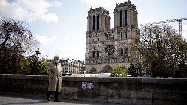 Catedral de Notre-Dame, en París. (EFE/EPA/Yoan Valat)