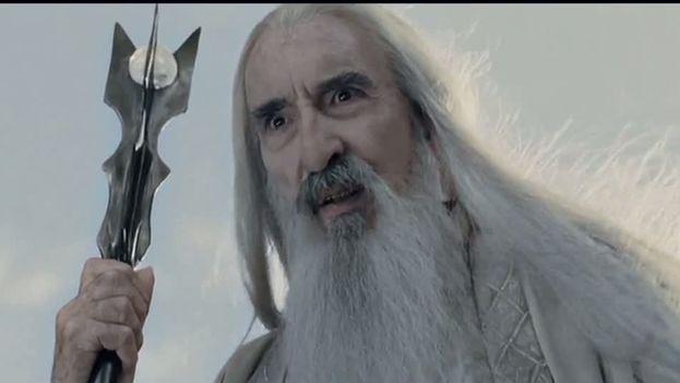 Christopher Lee encarnó a Saruman en la trilogía cinematográfica realizada por Peter Jackson de El Señor de los Anillos (CC)