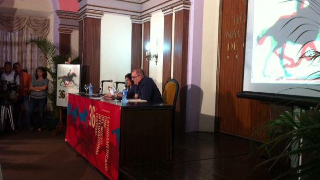 Conferencia de prensa para la presentación del Festival Internacional del Nuevo Cine Latinoamericano. (14ymedio)