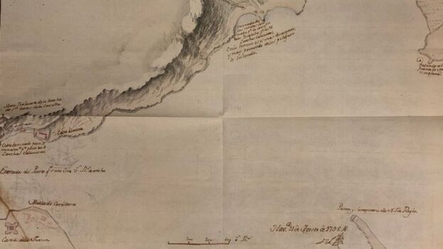 La Sección Papeles de Cuba, donde se ha localizado el mapa, es una parte del antiguo archivo de la Gobernación General de Cuba referido a asuntos de Hacienda y de Guerra. (EFE)