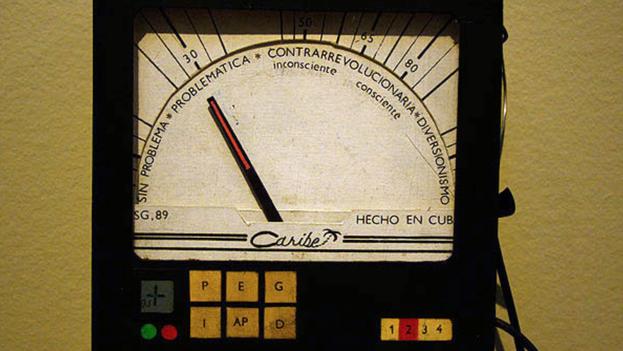 'Detector de Ideologia' de Lázaro Saavedra en el Museo de Bellas Artes. (BdG/14ymedio)